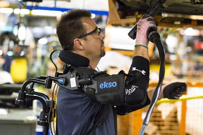Un exoesqueleto para hacer más eficientes a los trabajadores