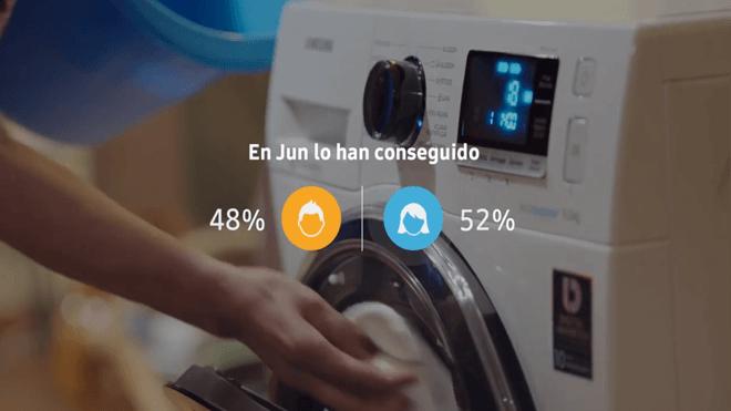 Samsung quiere impulsar el reparto igualitario de las tareas domésticas con una app y sus lavadoras AddWash