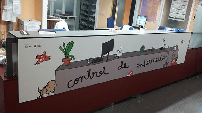 La tecnología HP Latex decora las paredes y el mobiliario del centro
