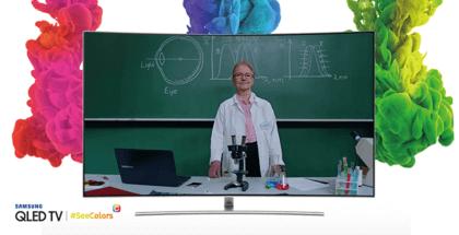 Samsung ofrece la app SeeColors en sus QLED TV para que las personas con daltonismo vean el mundo a todo color