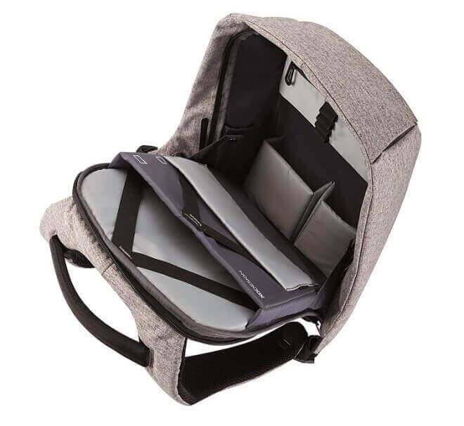 mochila antirrobo espacio interno