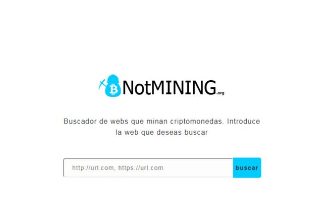NotMining es la iniciativa española que detecta webs que minan criptomonedas