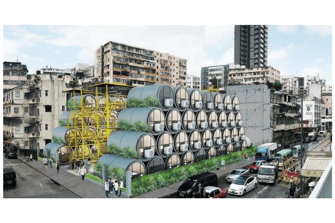Vivir en casas hechas en tuberías de cemento: La propuesta de Hong Kong
