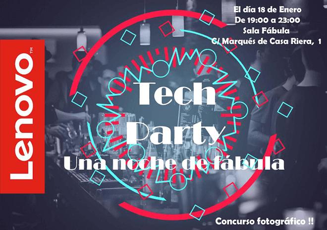 Lenovo te invita a celebrar la gran fiesta de la tecnología en Madrid: Tech Party 2018