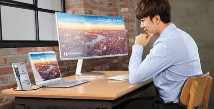 Samsung presenta en CES 2018 el primer monitor curvo QLED con conexión Thunderbolt 3