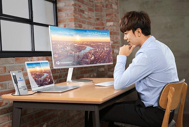 Samsung presenta el primer monitor curvo QLED con conexión Thunderbolt 3