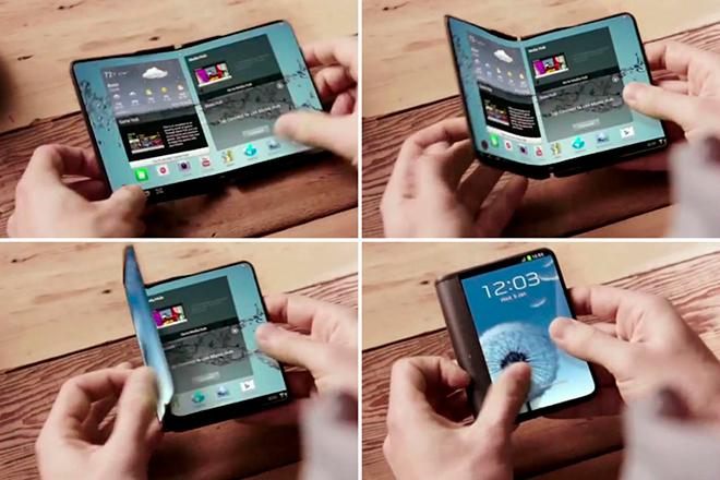 Nueva patente del teléfono plegable de Samsung