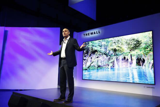 Samsung en el CES 2018 presentó The Wall, su propuesta de televisor modular