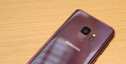 Detalle de la cámara principal del Galaxy S9