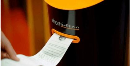 Conoce esta curiosa máquina que expende relatos cortos