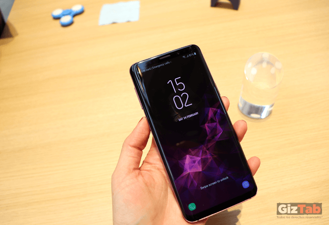 Pantalla del Samsung Galaxy S9, de 5,8 pulgadas Quad HD + Curved Super AMOLED