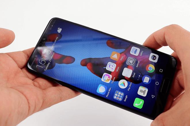 Vista en Mano del Huawei P20 Lite