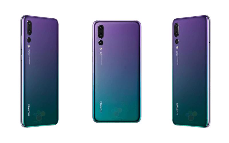 Huawei P20 con triple cámara y color púrpura o morado