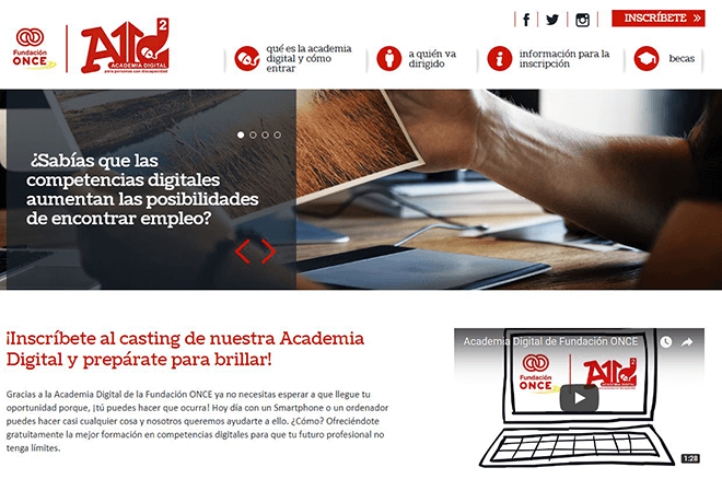 La Academia Digital de la Fundación ONCE ofrece formación en nuevas tecnologías a jóvenes con discapacidad