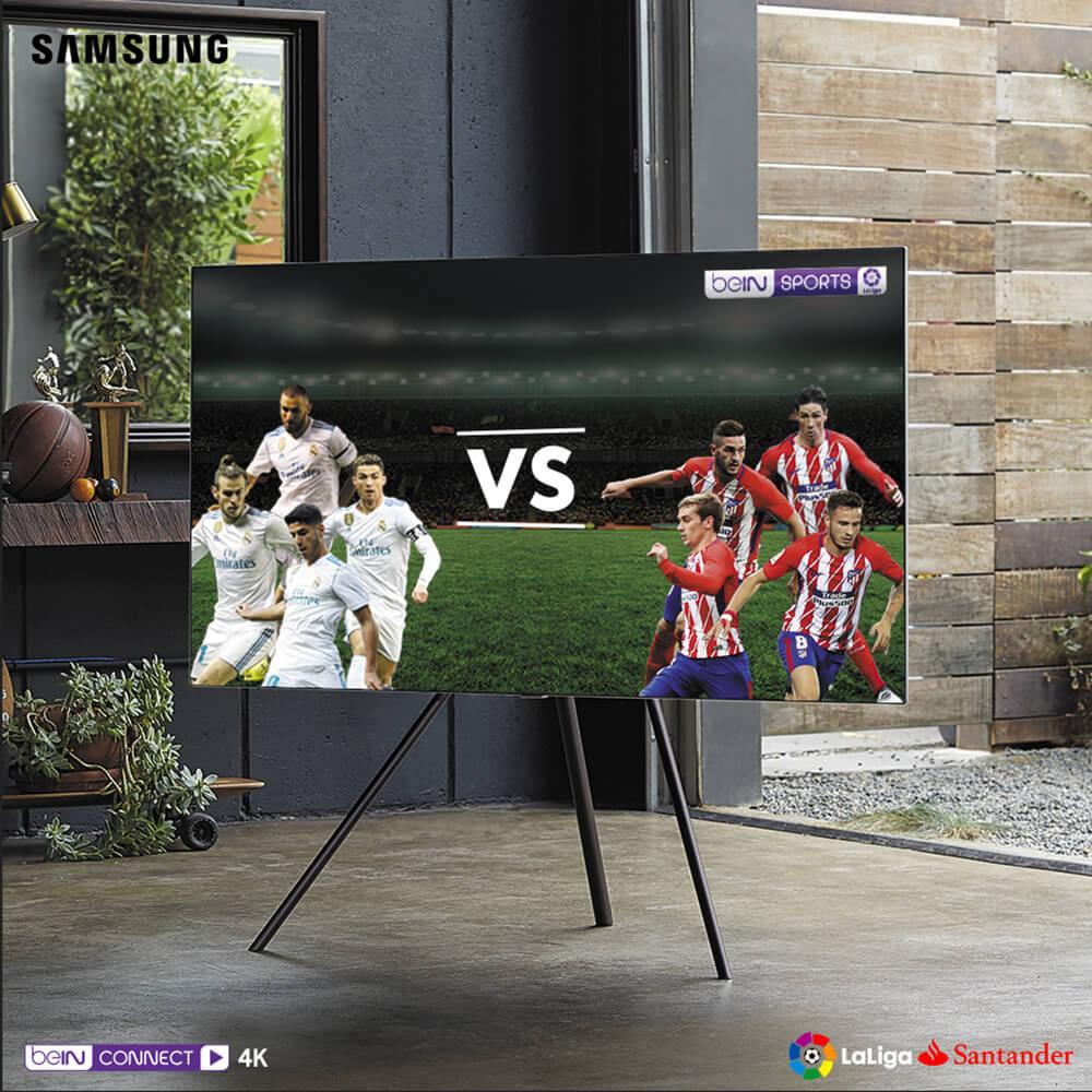 El servicio está disponible en la aplicación beIN CONNECT de los televisores QLED y UHD de Samsung por lo que los usuarios solo tienen que darse de alta y disfrutar de este emocionante derbi en calidad 4K.