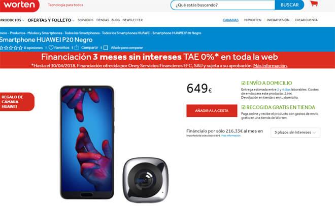 Comprar Huawei P20 en worten