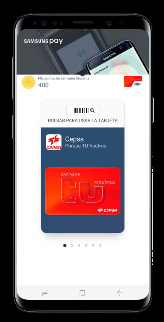 Samsung Pay incorpora la tarjeta de CEPSA