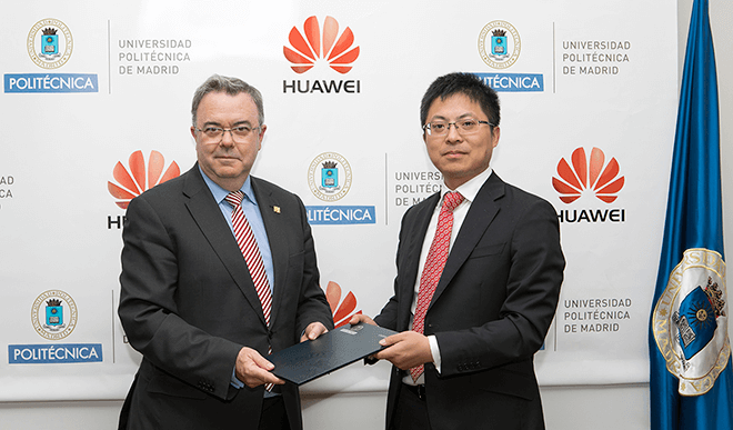 Huawei y la Universidad Politécnica de Madrid presentan la primera Cátedra de 5G en España