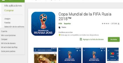 App del Mundial Rusia 2018