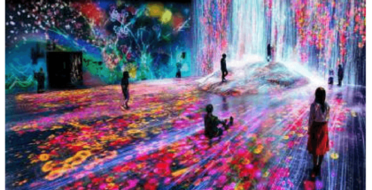 El arte y tecnología se unen en un museo japonés
