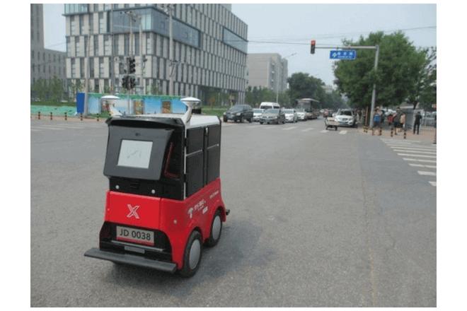 China ya cuenta con sus robots repartidores
