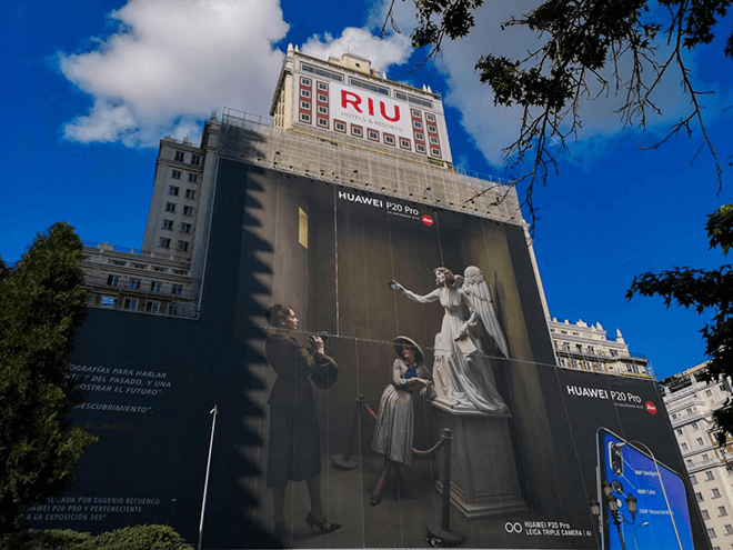 La mayor fotografía del mundo hecha con un móvil está en Madrid