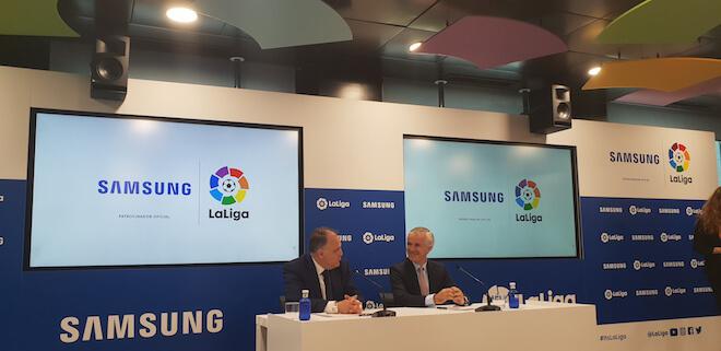 Samsung y LaLiga reafirman su compromiso de poner la tecnología al servicio del fútbol