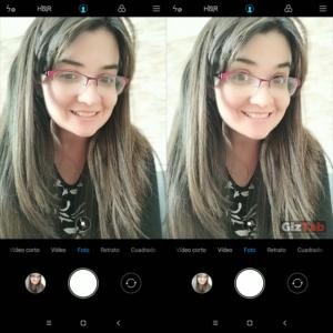 Interfaz de cámara del Redmi Note 5