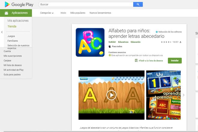app alfabeto para niños giztab