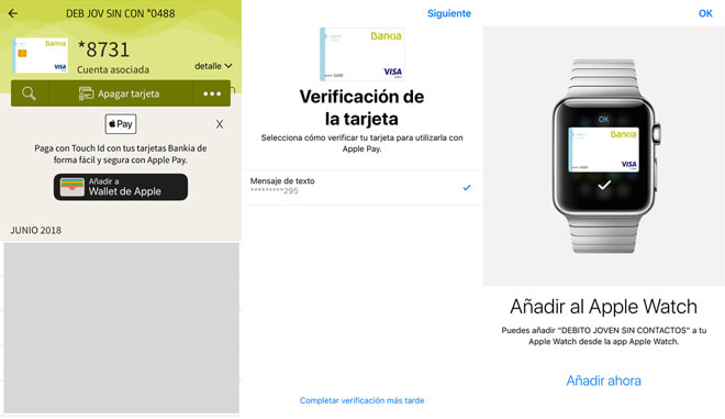 Apple Pay ahora es compatible con Bankia