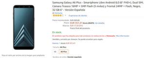 Comprar el Galaxy A6+ en amazon.es