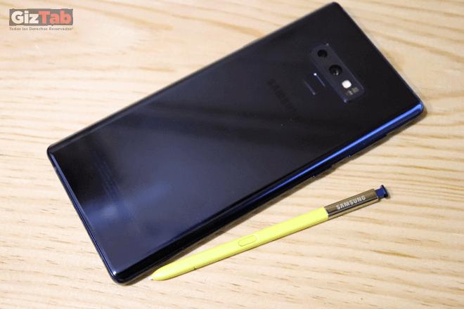Cara posterior del Note9 con S Pen
