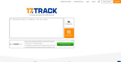 Seguimiento de paquetes con 17track