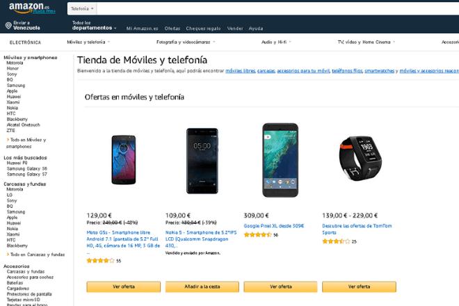 Amazon, mejores páginas para comprar móviles chinos