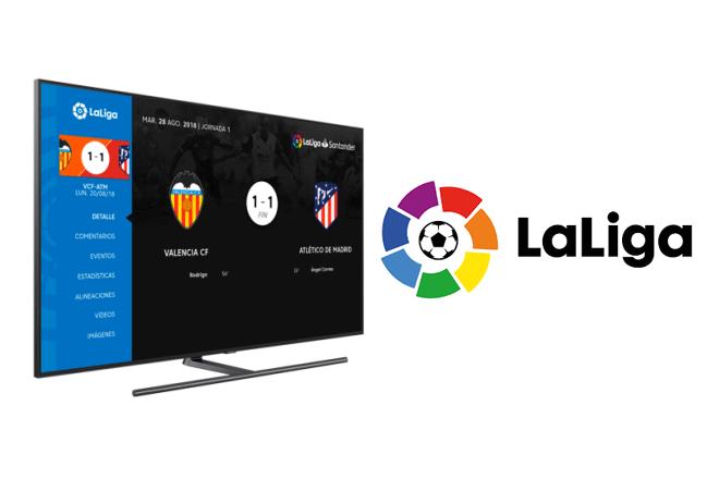 Samsung lanza la aplicación de LaLiga en primicia para sus Smart TV