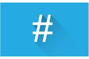 imagen de un hashtag
