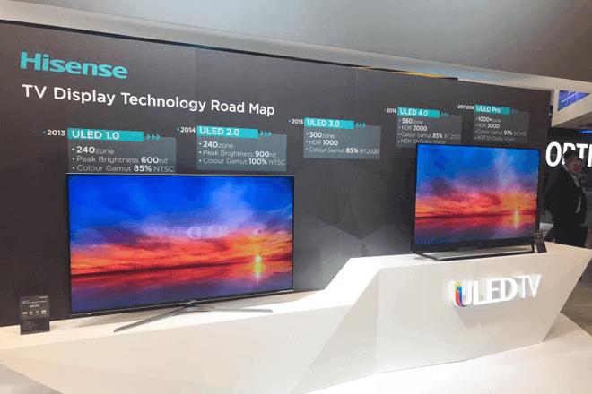 Hisense renueva su portafolio de teles con pantallas Quantum DOT, ULED y Laser TV