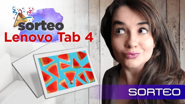 Gana un tablet TAB 4 de Lenovo en este sorteo