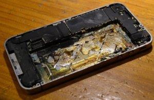 iphone quemado