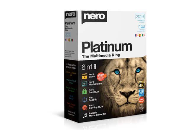 3 novedades de Nero Platinum 2019