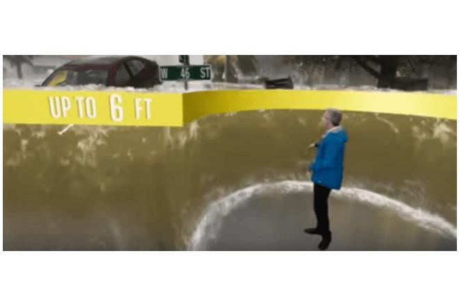 Con realidad aumentada canal de noticias explica el paso de huracán