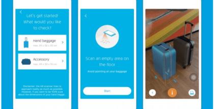 app de realidad aumentada para equipaje de mano
