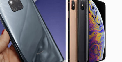 Comparativa del Huawei Mate 20 PRO Vs iPhone XS Max