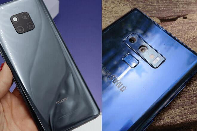 Comparativa del Huawei Mate 20 Pro y el Samsung Galaxy Note 9