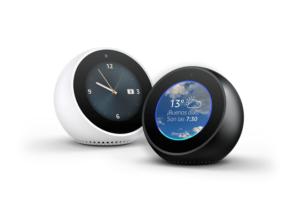Echo Spot ofrece todo lo que los clientes dicen que les gusta de Alexa con la comodidad añadida de una pantalla circular para que Alexa pueda mostrar las cosas