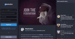 Así se registra en la red social Mastodon