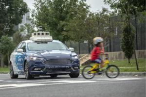 coche autónomo de Ford en pruebas