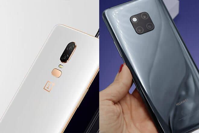 Comparativa del One Plus 6T Vs Huawei Mate 20 Pro