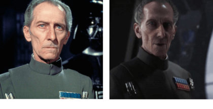 comparativa de fotos de Peter Cushing