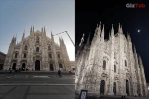 Comparativa de la Catedral de Milán de día y de noche, captadas con el Huawei Mate 20 Pro